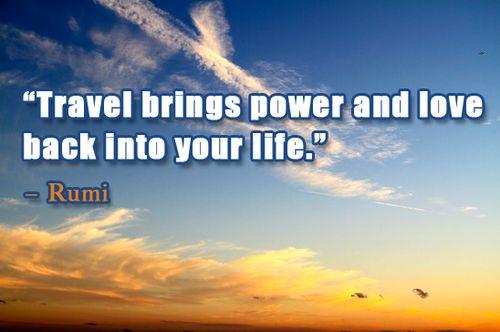 Travel quotes -love